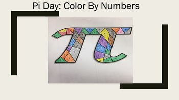 Pi Day: Color By Numbers