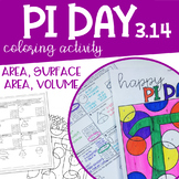 PI DAY Coloring Activity Area, Circumference, Surface Area, Volume