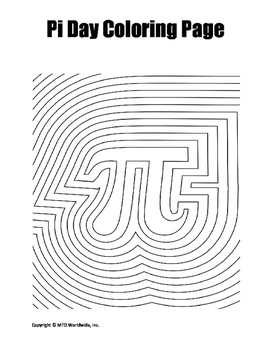 Pi Day Coloring Page Bundle