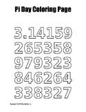 Pi Day Coloring Page Bundle