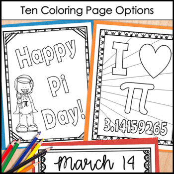 Pi Day Coloring Pages