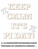 Pi Day Coloring Sheet