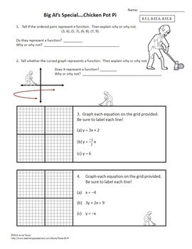 8th Grade Math Review Test Prep Choice Menu Zombies
