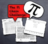 """Pi Day! Competitive Team Activity - """"The Pi Chain Challenge"""" 3.14 3/14"""