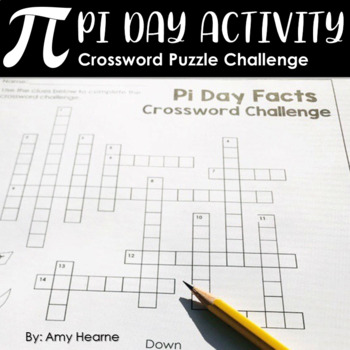 Pi Day Activity Crossword Challenge By Amy Hearne Amys Angle