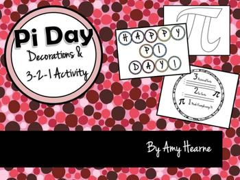 Pi Day Decor and 3-2-1 Activity