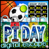 Pi Day Digital Math Escape Room for Middle School