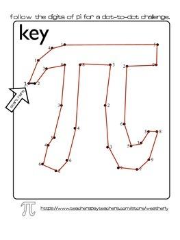 Pi Day - Digits of Pi Dot-to-Dot