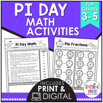 Pi Day Elementary Math Activities