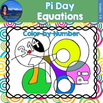 Pi Day Equations Math Practice Color by Number
