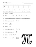 Pi Day - Exponents