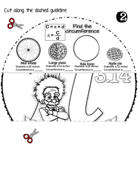 Pi Day Activity for Middle School and High School Flip Book