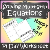 Pi Day Activities Middle School {Pi Day Worksheet} {Pi Day Activity High School}