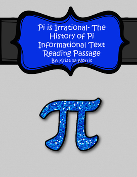Pi Day Informational Text Reading Passage and Practice