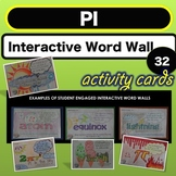 Science Bell ringer Pi Interactive Word Wall STEAM Activity NO PREP