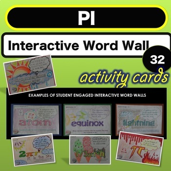 Science Bell ringer Pi Day Interactive Word Wall STEAM Act