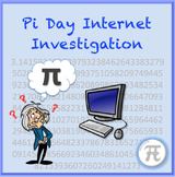 Pi Day Internet Investigation Activity for Secondary Students