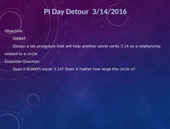 Pi Day Lab Design Activity