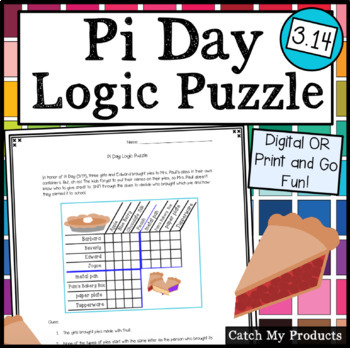 Pi Day Logic Puzzle Worksheet For Gifted and Talented Students