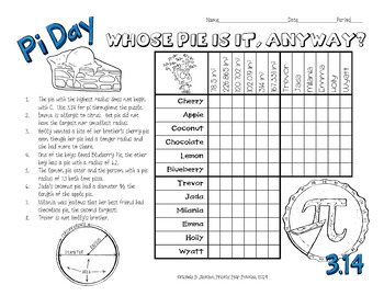 Pi Day Logic Puzzles by Prickly Pear Puzzles | Teachers ...