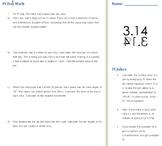 Pi Day Math