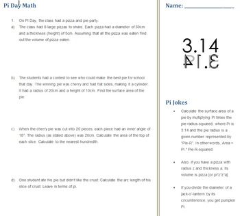 Pi Day Math