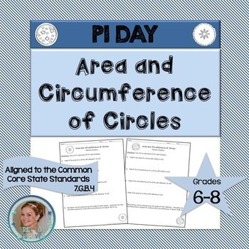 Pi Day Math Activity - Area and Circumference of Circles
