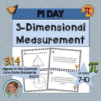 Pi Day Math Activity - Three-Dimensional Measurement