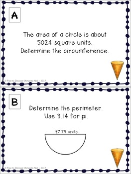 Pi Day Math Activity - Two-Dimensional Measurement