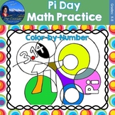 Pi Day Math Practice Color by Number Grades K-8