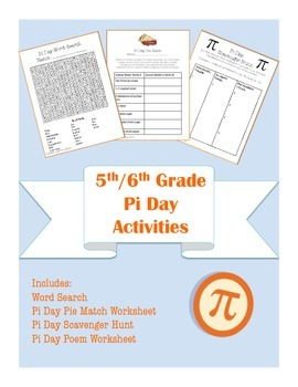 5th/6th Common Core Aligned Pi Day Math and Language Arts Activity Packet