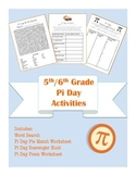 5th/6th Common Core Aligned Pi Day Math and Language Arts