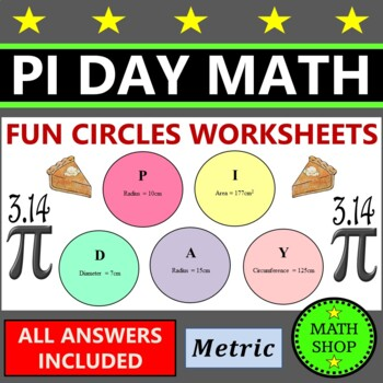 Pi Day Maths – Circle Area and Circumference - Fun Secret Code Breaker Activity