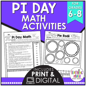 Pi Day Worksheets Teaching Resources Teachers Pay Teachers