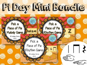 Pi Day Mini Music Bundle - Pick a Piece of Pie Melody and Rhythm Games