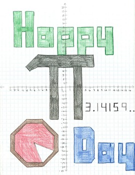 Pi Day Ordered Pair Graphing Picture