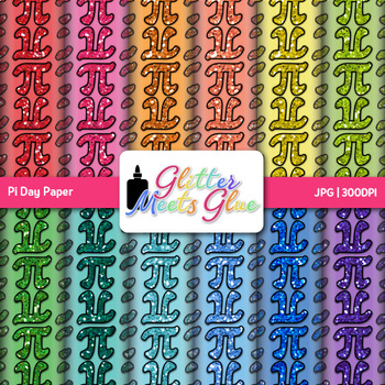 Pi Day Paper | Scrapbook Backgrounds for Task Cards & Math Resources