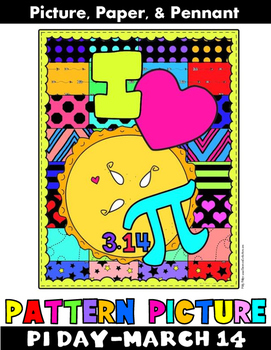 """Pi Day Activity: """"Pattern Pictures"""" Pi Day Banner"""