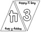 Pi Day Pennant Banner (Colorable)