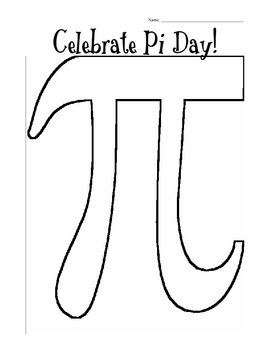 Pi Day - Pi Figure coloring sheet