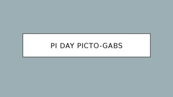 Pi Day Picto-Gabs (Mad Gab Game with Pictures)