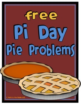 FREE Pi Day Area & Circumference Middle School Math Word Problems