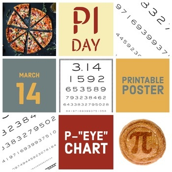 picture relating to Eye Chart Printable named Pi Working day Poster - P-\