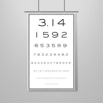 "Pi Day Poster - P-""Eye"" Chart - Printable Poster - Celebrate Pi Day"