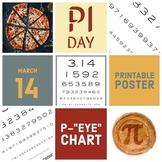 "Pi Day Poster - P-""Eye"" Chart - Printable Poster - Celebra"