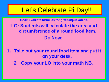 Pi Day PowerPoint Lesson
