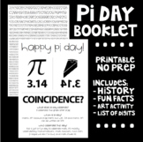 Pi Day Printable Booklet