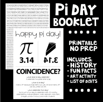 Pi Day Printable Booklet By I Can In Fourth Teachers Pay Teachers