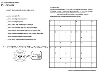 Pi Day Activities Puzzles
