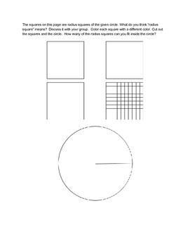 Pi Day Radius Squares